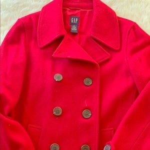 GAP True Red Wool Trench Coat